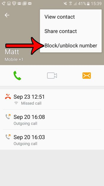 how to block a phone number in android marshmallow