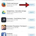 how to see if an update is available for an iphone app