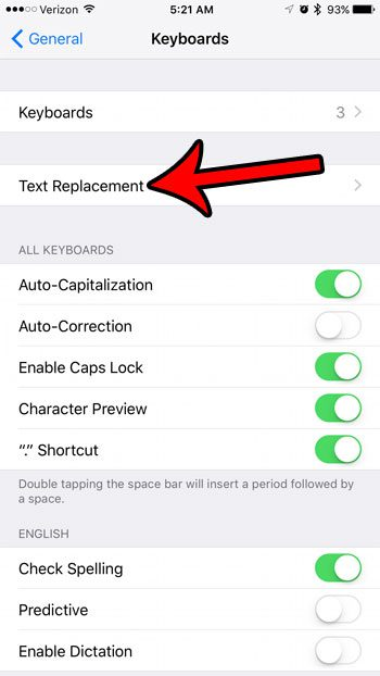 how to make a keyboard shortcut on iphone 7
