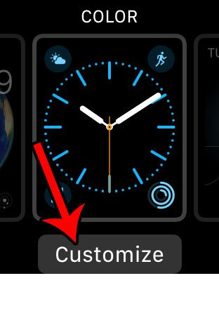 customize an apple watch face