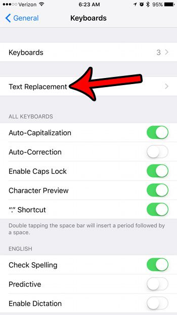 how to stop your iphone from replacing certain letters