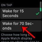 how to make apple watch screen stay on longer