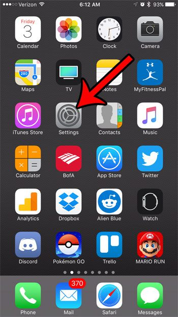 enable iphone web browsing privacy settings