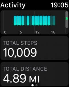 how to find the step count on the apple watch