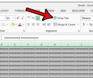 how to wrap text for all cells in excel 2013 spreadsheet