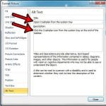 how to add alt text to a picture in powerpoint 2010