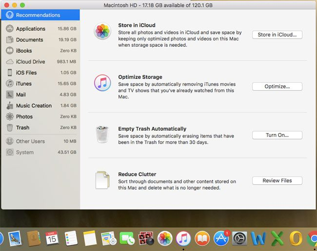 how to clean a startup disk that is almost full on an macbook air