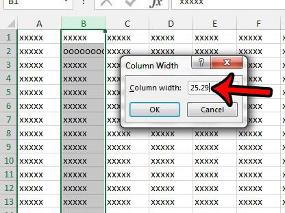 how to enlarge a cell horizontally in excel 2013