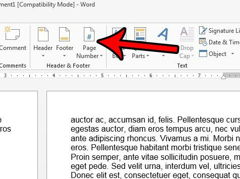 include last name and page number in word 2013
