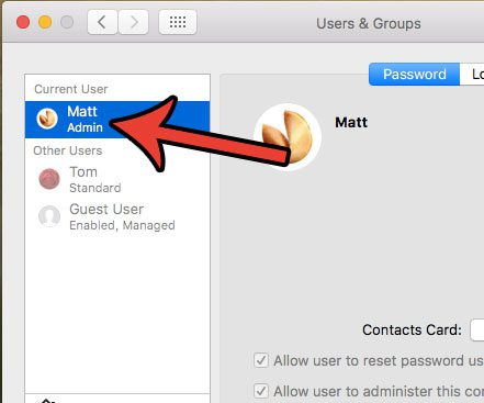 how to remove a mac user password