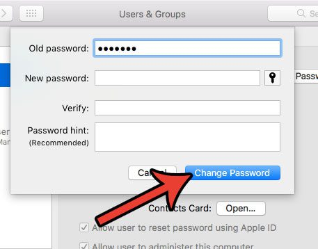 how to remove a macbook air password