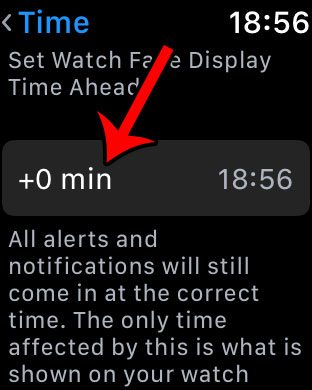 how to make time fast on apple watch