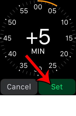 how to set apple watch time ahead by 5 minutes