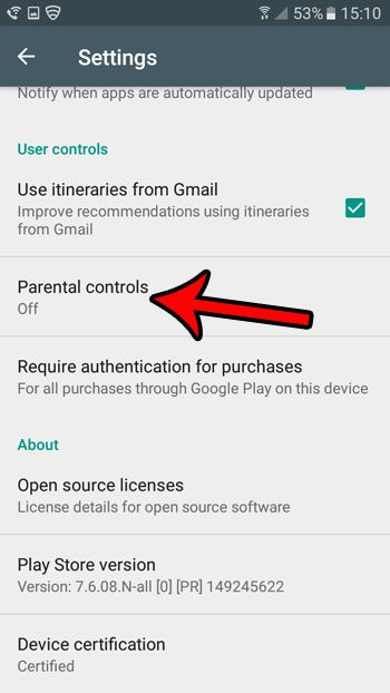 parental controls in android marshmallow