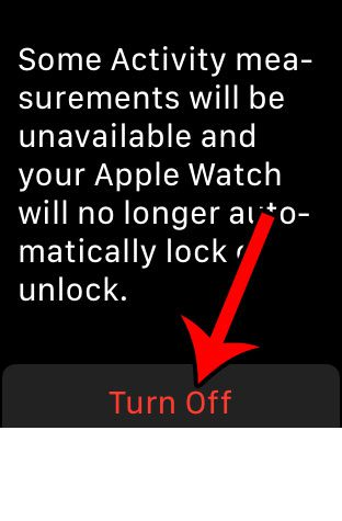 how to stop requiring a passcode on the apple watch