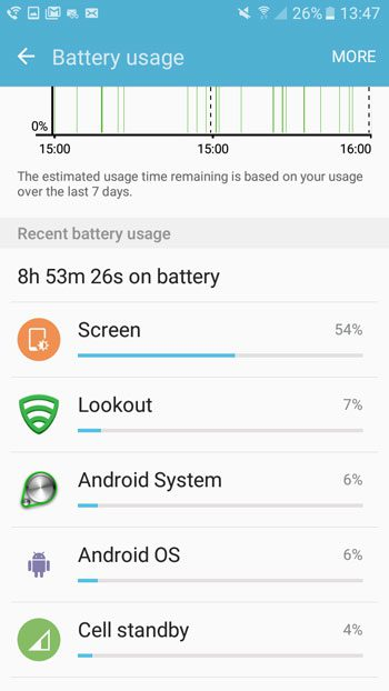 view battery usage statistics in android marshmallow