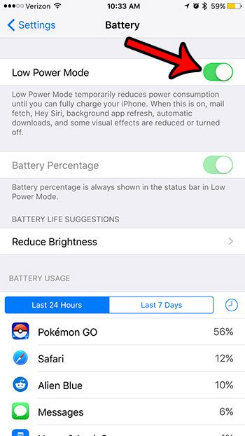 10 tips to improve battery life on iphone 7