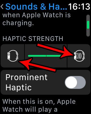 how to change haptic feedback vibration on apple watch