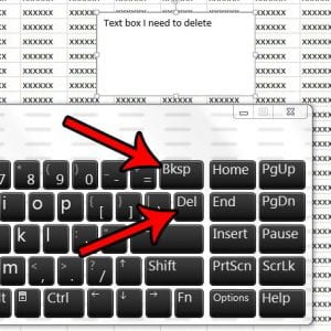 how to delete a text box in excel 2013