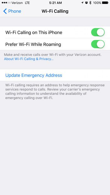 how to prefer wi-fi calling on iphone while roaming