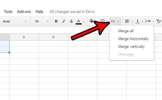 Merge Button - 7 EASY STEPS HOW TO MERGE CELLS IN GOOGLE SHEETS
