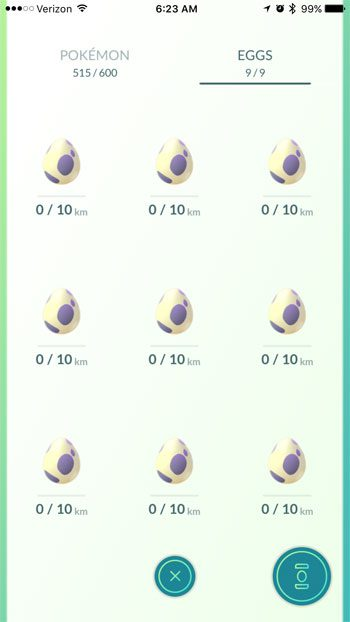 How to Put an Egg Into an Incubator in Pokemon Go on an