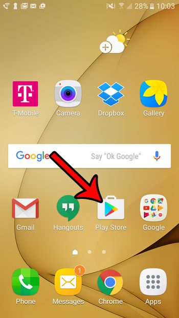 android app icons on home screen
