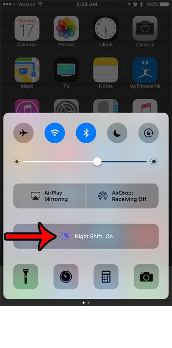 how to enable or disable night shift mode on an iphone 7