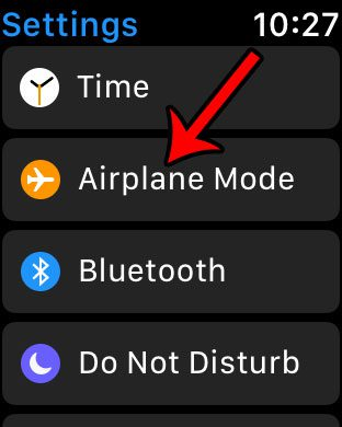 how to turn on apple watch airplane mode