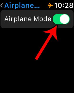 how to enable airplane mode on an apple watch