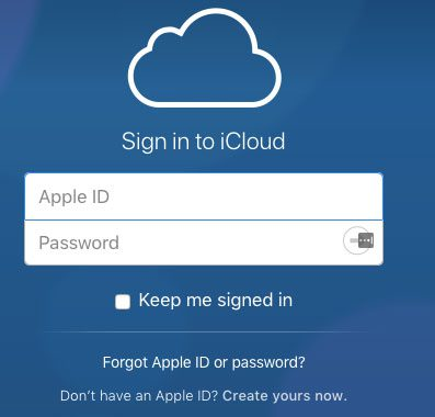 sign into icloud through a web browser
