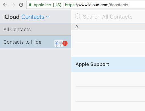 how to put a contact in a group in icloud
