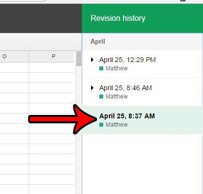 how to find version history in google sheets