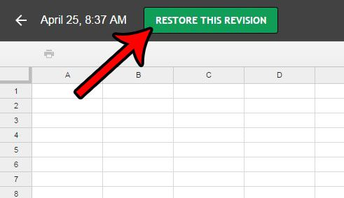 restore revision in google sheets