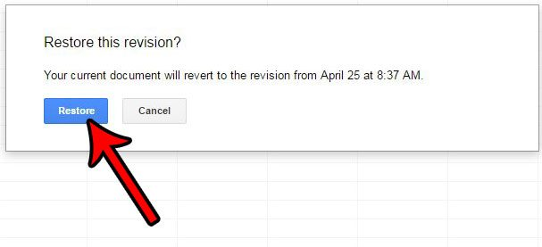 how to restore old version of file in google sheets