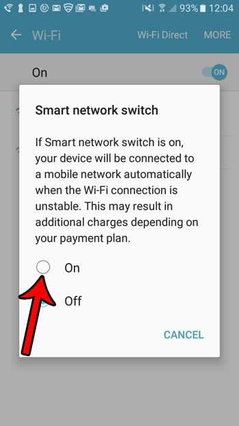 how to turn on smart network switch in android marshmallow
