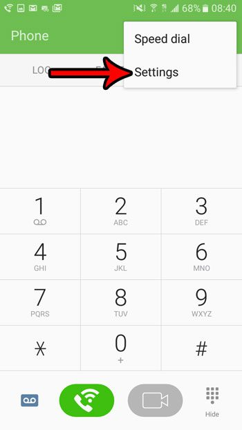 open phone settings on android marshmallow