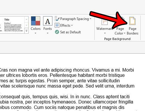 alternate method for adding page border in word 2013