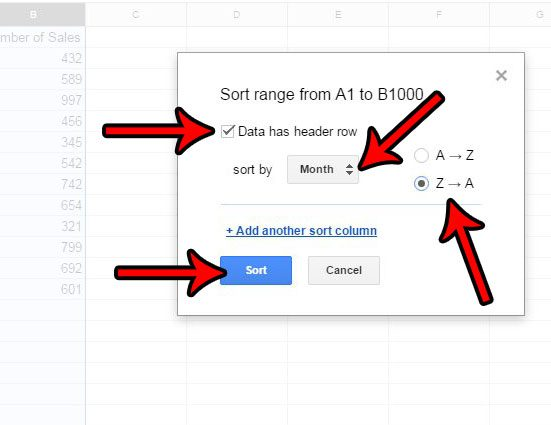 how to alphabetize in google sheets