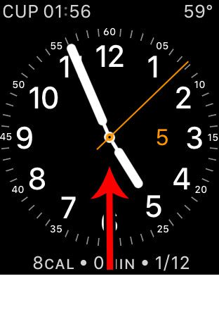 open the apple watch control center