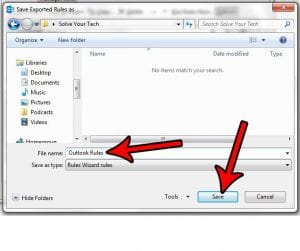 How to Export Rules in Outlook 2013