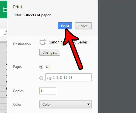 print in google sheets