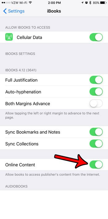 How to Allow iBooks to Access Online Content on an iPhone 7