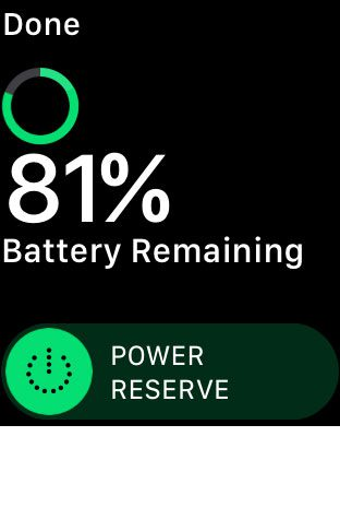how to enable power reserve on apple watch