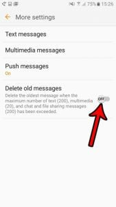 how to stop deleting old messages in android marshmallow