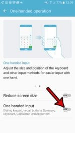 how to turn off one handed mode in android marshmallow