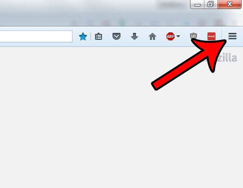 click the open menu button in firefox