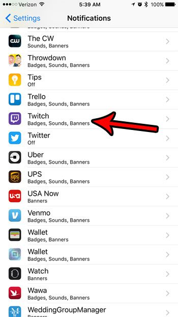How to Turn Off the Sound Notifications in the iPhone Twitch