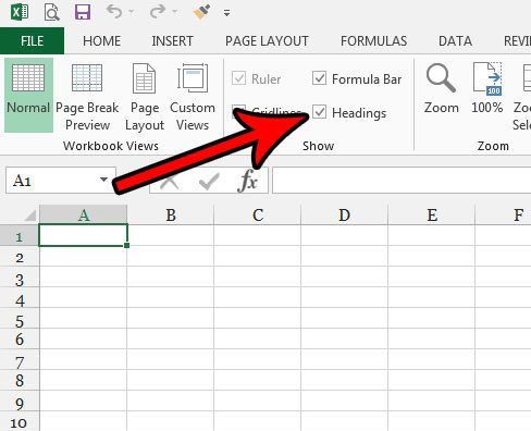 how to add row headers in excel 2013