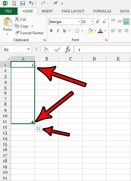 how to add row numbering in excel 2013